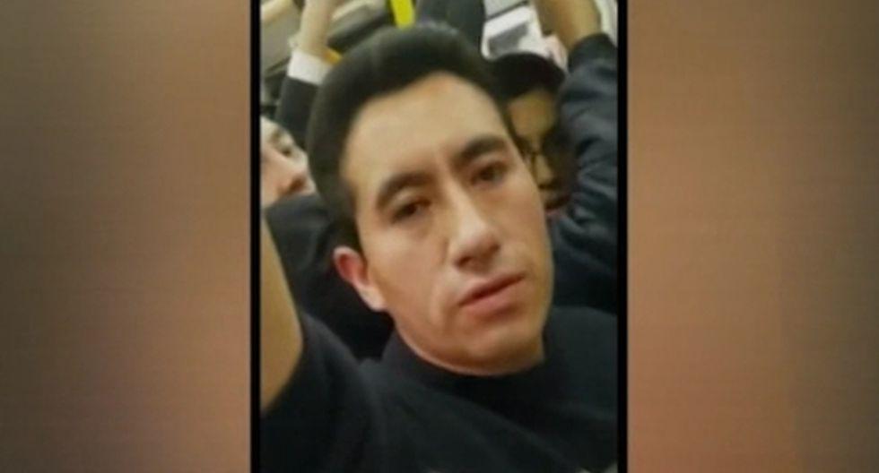 El presunto acosador fue trasladado a la comisaría. (Foto: Captura/América Noticias)