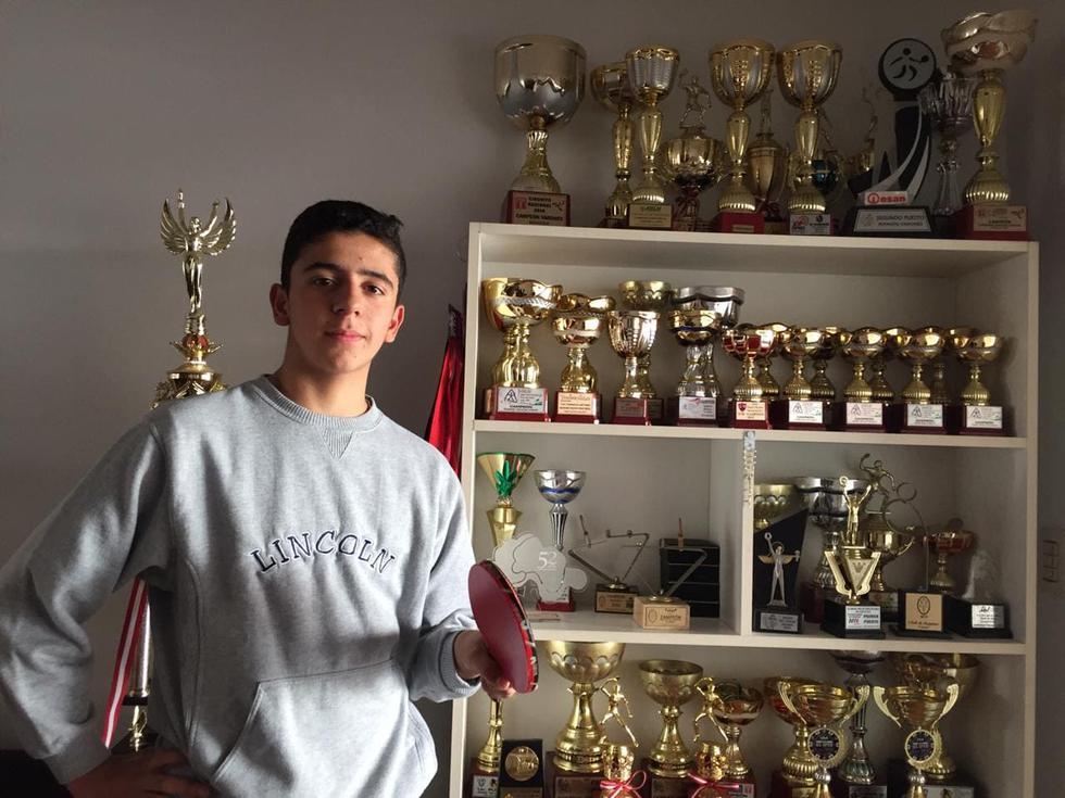 'Nano' Fernández' clasificó al Mundial de Tenis de Mesa Sub15 en Polonia