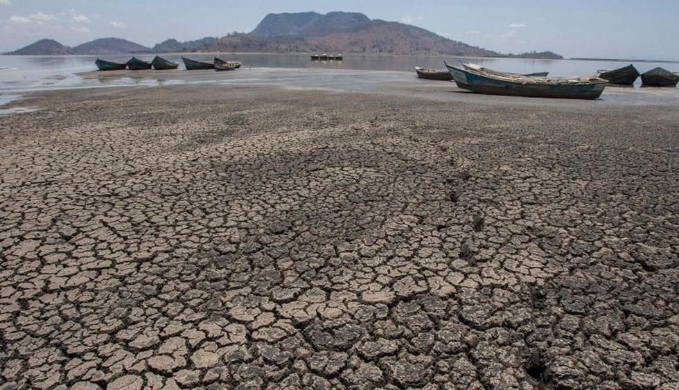 Lago Chilwa se seca por el cambio climático en Malaui | Foto: AFP