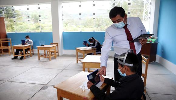 Apurímac: os modernos equipos ayudarán a los escolares a continuar con sus estudios de manera remota mientras se retoman progresivamente las clases presenciales. (Foto: Minedu)