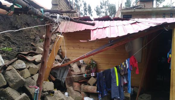 Áncash: Derrumbe de muro aplasta humilde vivienda de madera (Foto: Difusión)