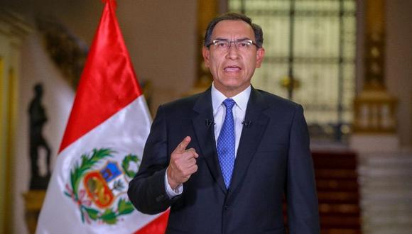 El presidente Martín Vizcarra planteó ante el Congreso de la República una cuestión de confianza por la aprobación del proyecto de ley de reforma del sistema judicial y político (Foto: Palacio de Gobierno)