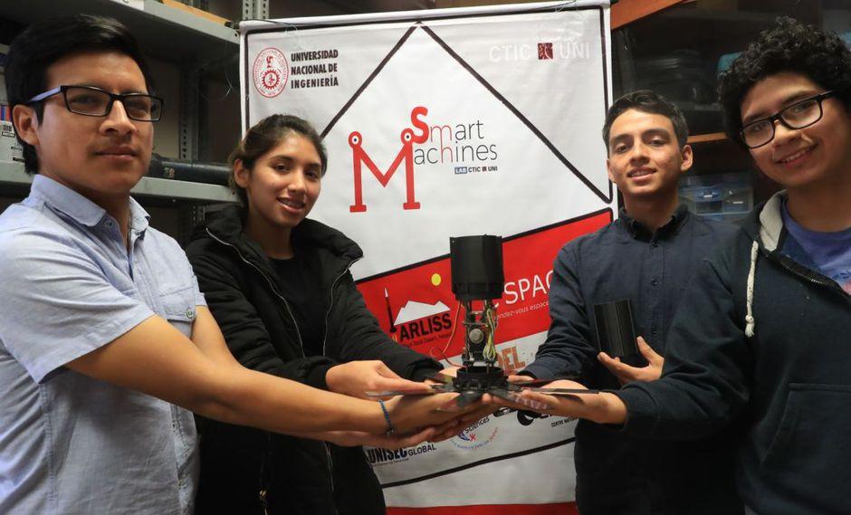Ocuparon el segundo lugar en la competencia internacional C´Space 2019. (Foto: Andina)
