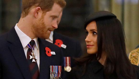 Meghan de Sussex y Enrique de Sussex. (Foto: AFP)