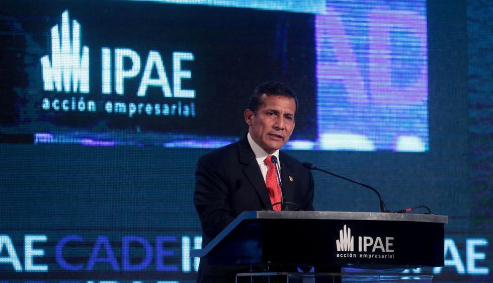 Ollanta Humala hizo un llamado a los empresarios, desde los más grandes a los más pequeños, a aprovechar las oportunidades de inversión que ofrece el Perú. (Nancy Dueñas/Perú21)
