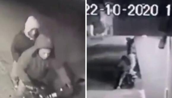 Muchos esperan que los ladrones que aparecen en el video sean capturados pronto. (Foto: captura de video de Twitter)