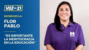 """Flor Pablo: """"Es importante la meritocracia en la educación"""""""