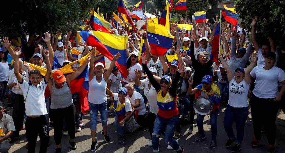 Los partidarios de la oposición participan en un mitin para conmemorar el Día de la Juventud y protestar contra el gobierno del presidente venezolano Nicolás Maduro en Ureña. (Foto: Reuters)