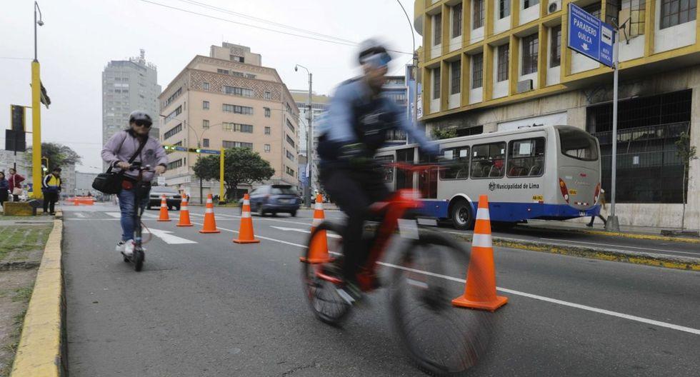 La iniciativa busca evaluar el flujo de potenciales beneficiados con el funcionamiento del carril exclusivo de lunes a viernes. (Municipalidad de Lima)