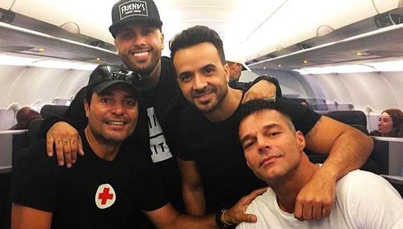 Ricky Martin, Chayanne, Nicky Jam y Luis Fonsi se unen por una noble causa. (Facebook)