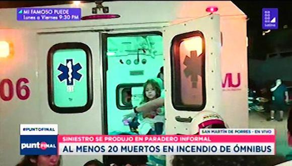 La menor se encontraba tranquila y no mostraba alguna secuela por la tragedia ocurrida. (Foto: Latina)