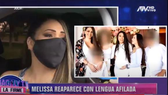 Melissa responde por críticas por asistir a baby shower