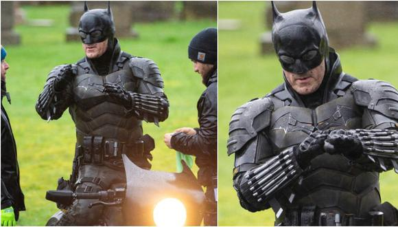 Revelaron las primeras imágenes del traje de Batman que usará Robert Pattinson. (Splash News/The Grosby Group)