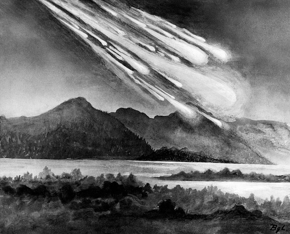 Tunguska: la mayor explosión de un asteroide en la atmósfera terrestre de la historia reciente. (Getty)