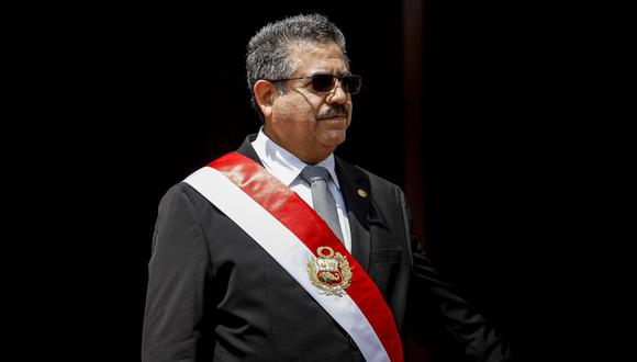 La guardia pretoriana de Manuel Merino: debían estar en Palacio pero aparecieron en las protestas. (Foto: Presidencia)