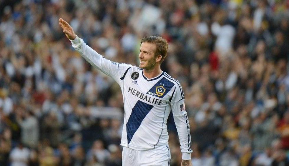 David Beckham disputó seis temporadas con LA Galaxy entre los años 2007 y 2012. (GETTY IMAGES)