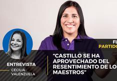 """Flor Pablo del Partido Morado: """"Pedro Castillo se ha aprovechado del resentimiento de los maestros"""""""