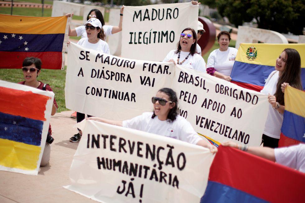 Manifestación en Brasil. (Reuters)