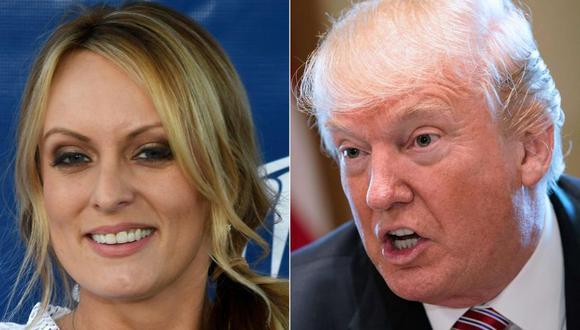 Stormy Daniels sostiene que mantuvo relaciones sexuales con el ahora presidente Donald Trump en 2006. (Foto: AFP).