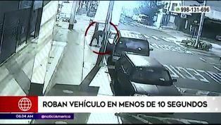 Lince: Delincuente roba auto en menos de 10 segundos