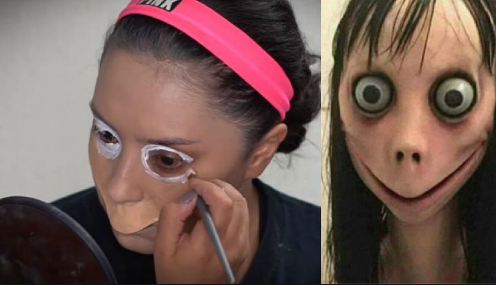 Una joven aprovechó la popularidad de 'Momo' y publicó un video donde se maquilla para parecerse a este personaje. (YouTube: Alin Pescina Makeup)