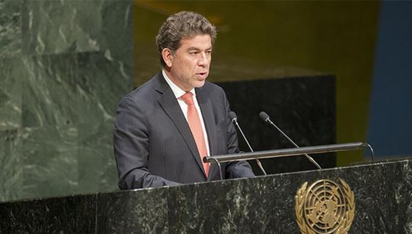 Gustavo Meza Cuadra expuso la posición peruana ante el Consejo de Seguridad de la ONU. (Foto: Agencia Andina)