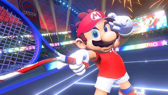 Nintendo presentó un nuevo juego de Mario jugando tenis.