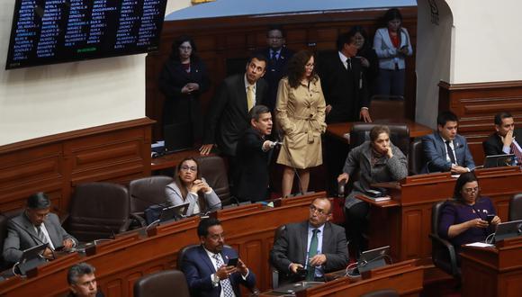 Bancada de Fuerza Popular en el Pleno del Congreso (Anthony Niño de Guzmán/GEC).
