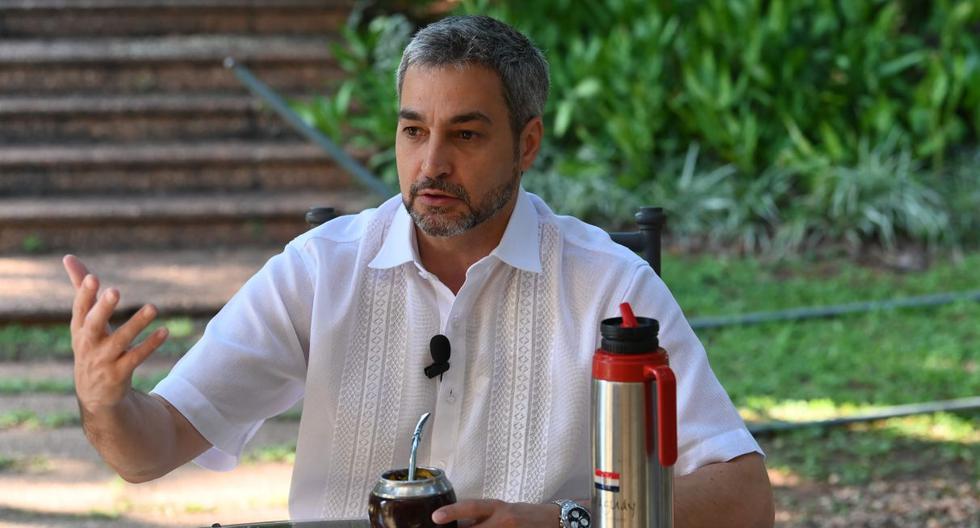 Imagen del presidente de Paraguay, Mario Abdo Benítez. (AFP).