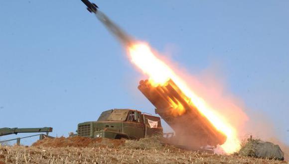 CRECE TENSIÓN. Pyongyang quiere demostrar su poderío bélico. (AP)