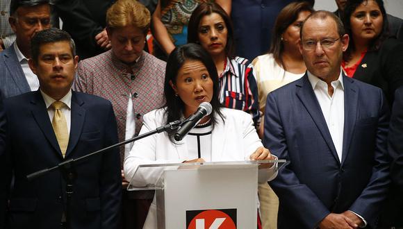 La lideresa de Fuerza Popular, Keiko Fujimori, fue detenida esta mañana en el Cercado de Lima. (Foto: USI)