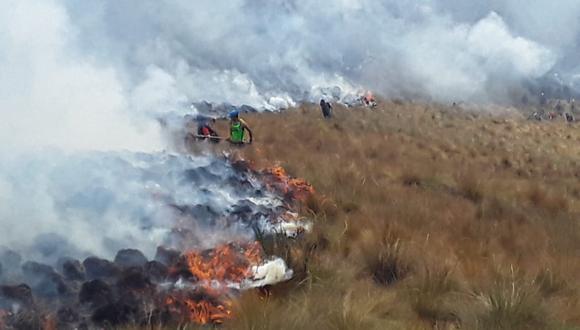 Cusco: Madre e hija fueron detenidas por iniciar incendio forestal. (Referencial / Carlos Peña)