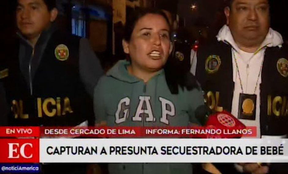 Hilda Maurtua Pardo fue detenida al tener una orden de captura vigente. (América Televisión)