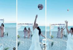 Alejandra Baigorria: Así lucho la modelo por el ramo de novia de la mamá de Said Palao | VIDEO