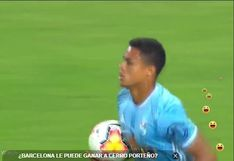 Sporting Cristal vs. Barcelona: Christopher Olivares canjeó penal por gol para el 2-1 rimense [VIDEO]
