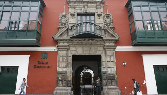 El TC también dejó sin efecto la conformación de la Sala Primera, integrada por el fallecido Carlos Ramos Núñez, y se dispuso su reconformación. (Foto: Manuel Melgar / GEC)