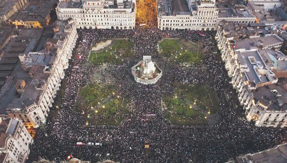 Hoy se está desarrollando una nueva marcha nacional para exigir la salida de la presidencia de la República de Manuel Merino.