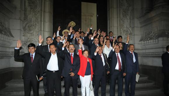 La virtual bancada de Acción Popular es la última en reunirse con el presidente Martín Vizcarra tras la Elecciones Congresales Extraordinarias 2020. (Foto: César Bueno / GEC)