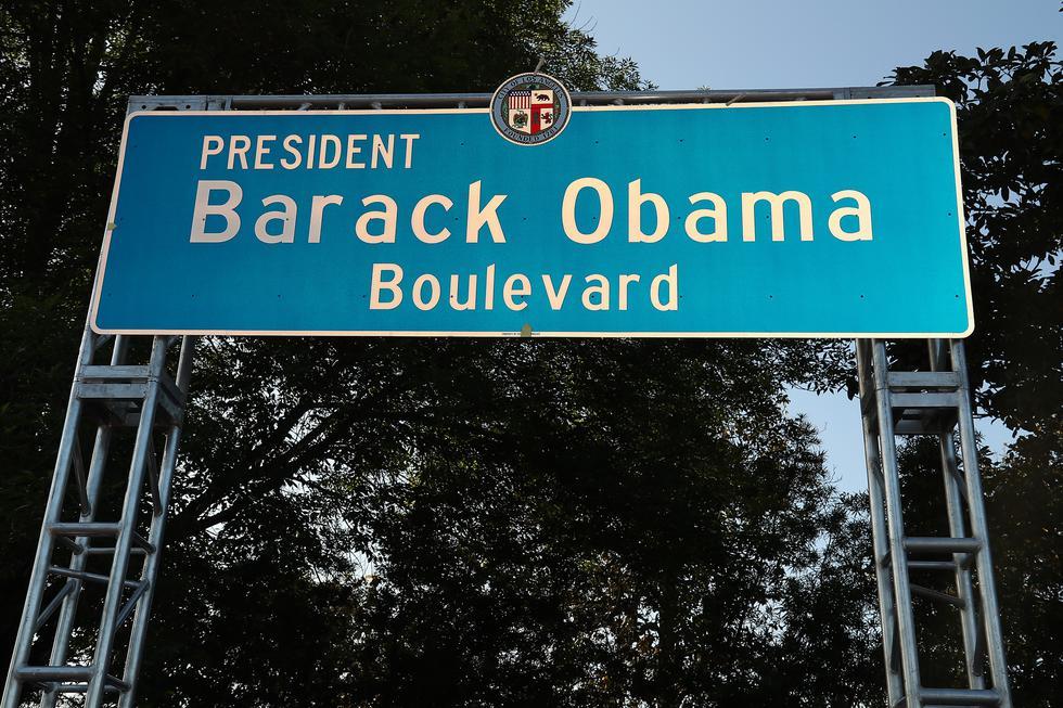 Barack Obama: Calle con nombre del expresidente es inaugurada en Los Ángeles (AFP)
