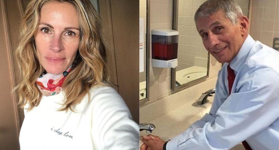 Julia Roberts le presta sus redes al doctor Fauci para dar voz a los expertos del coronavirus. (Foto: Instagram @juliaroberts)