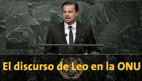 Leonardo DiCaprio exigió a los líderes de todo el mundo ir más allá de los acuerdos contra el cambio climático. (Reuters)