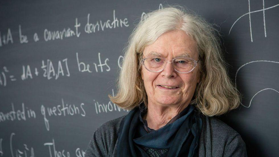Karen Uhlenbeck el 18 de marzo de 2019 en Princeton, Nueva Jersey, un día antes del anuncio de su nombre como ganadora del Premio Abel de Matemáticas de Noruega. AFP