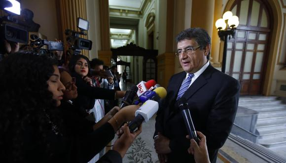 El congresista Juan  Sheput anunció hoy la conformación de su nueva bancada Contigo. (Foto: Congreso)