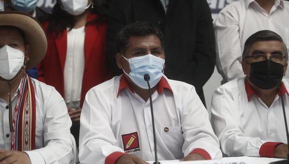 Jaime Quito, congresista de Perú Libre. (Foto: César Campos / @photo.gec)
