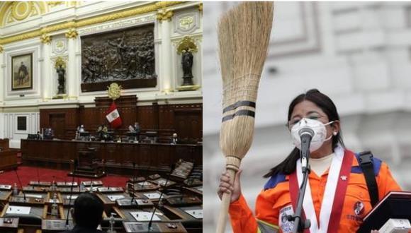 La congresista Isabel Cortez mostró su disconformidad con el desempeño del canciller Óscar Maúrtua como titular del Ministerio de Relaciones Exteriores. (Fotos: Congreso/GEC).