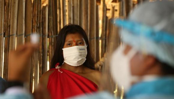 El Minsa informó que la región de San Martín lidera el ranking de vacunación en las comunidades nativas amazónicas. (Foto: Minsa)