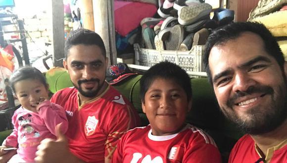 Yaqoob Mubarak pudo concretar su encuentro con el niño trujillano Víctor Angulo.