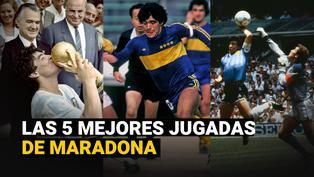 Las cinco mejores jugadas de Diego Maradona para la historia del fútbol
