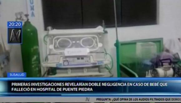 El caso ocurrió en el hospital Carlos Lanfranco La Hoz, en Puente Piedra. (Canal N)