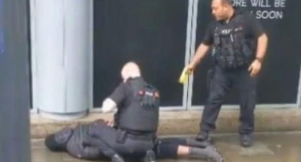 El centro de Manchester permanece cerrado por el cordón policial y se ha interrumpido el servicio de tranvías. (Foto: Captura de video)